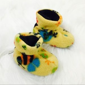 Acorn Baby Fleece Bumble Bee Slipper Booties!